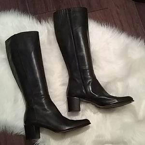 Via Spiga made in Italy Shoes - Via Spiga Leather blk boots sz 10 M made in Italy